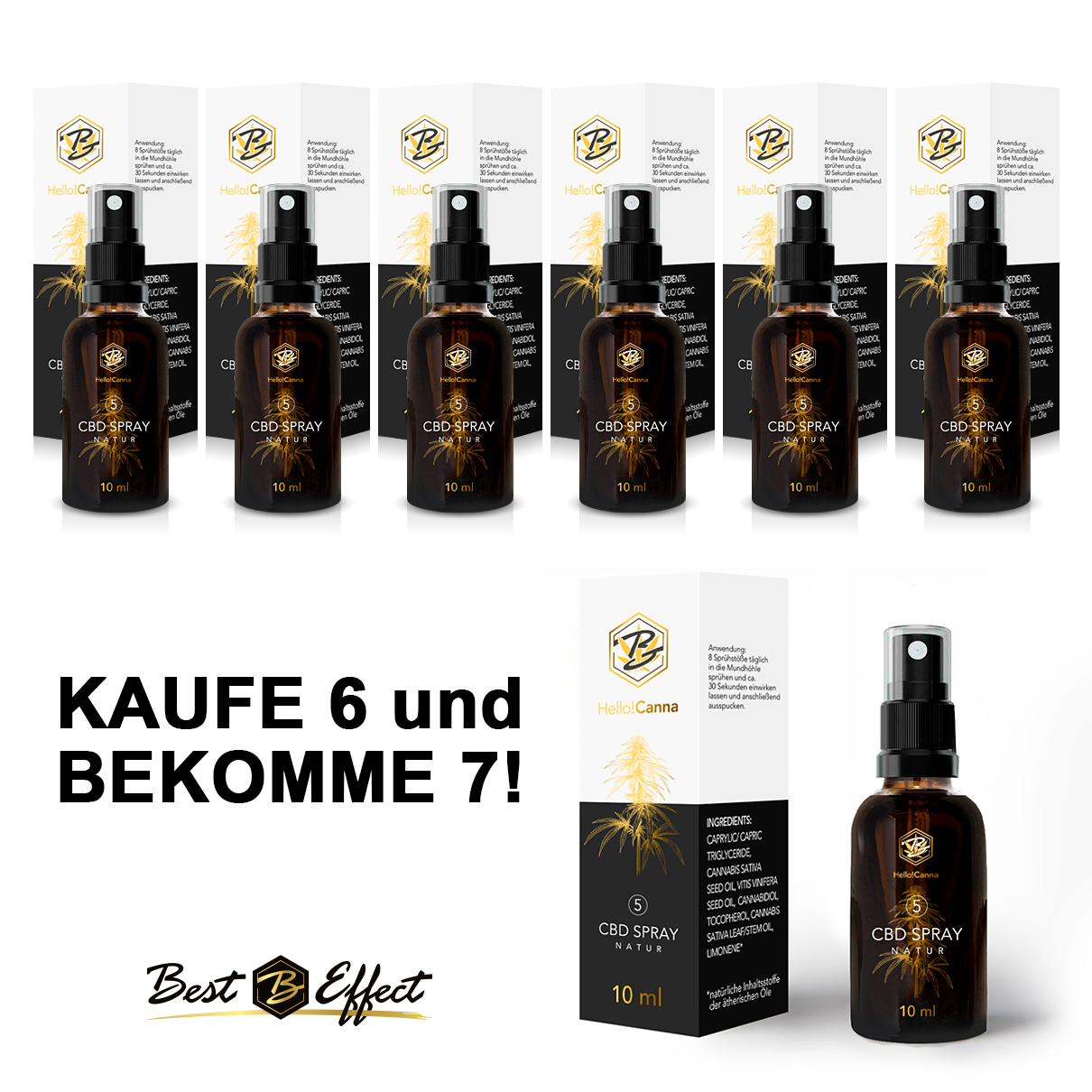 Hello!Canna Spray Natur 6+1 Gratis